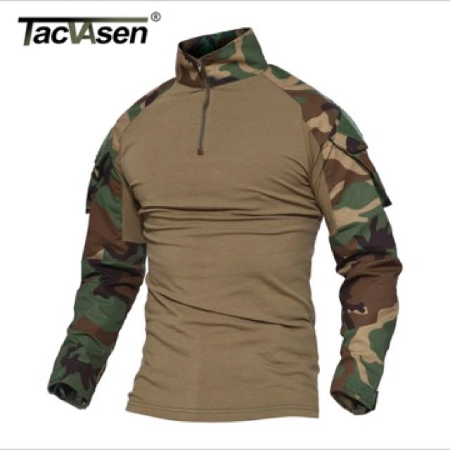47e16fb53a4496 TACVASEN Python Camouflage Male T-shirts Army Combat Tactical T ...