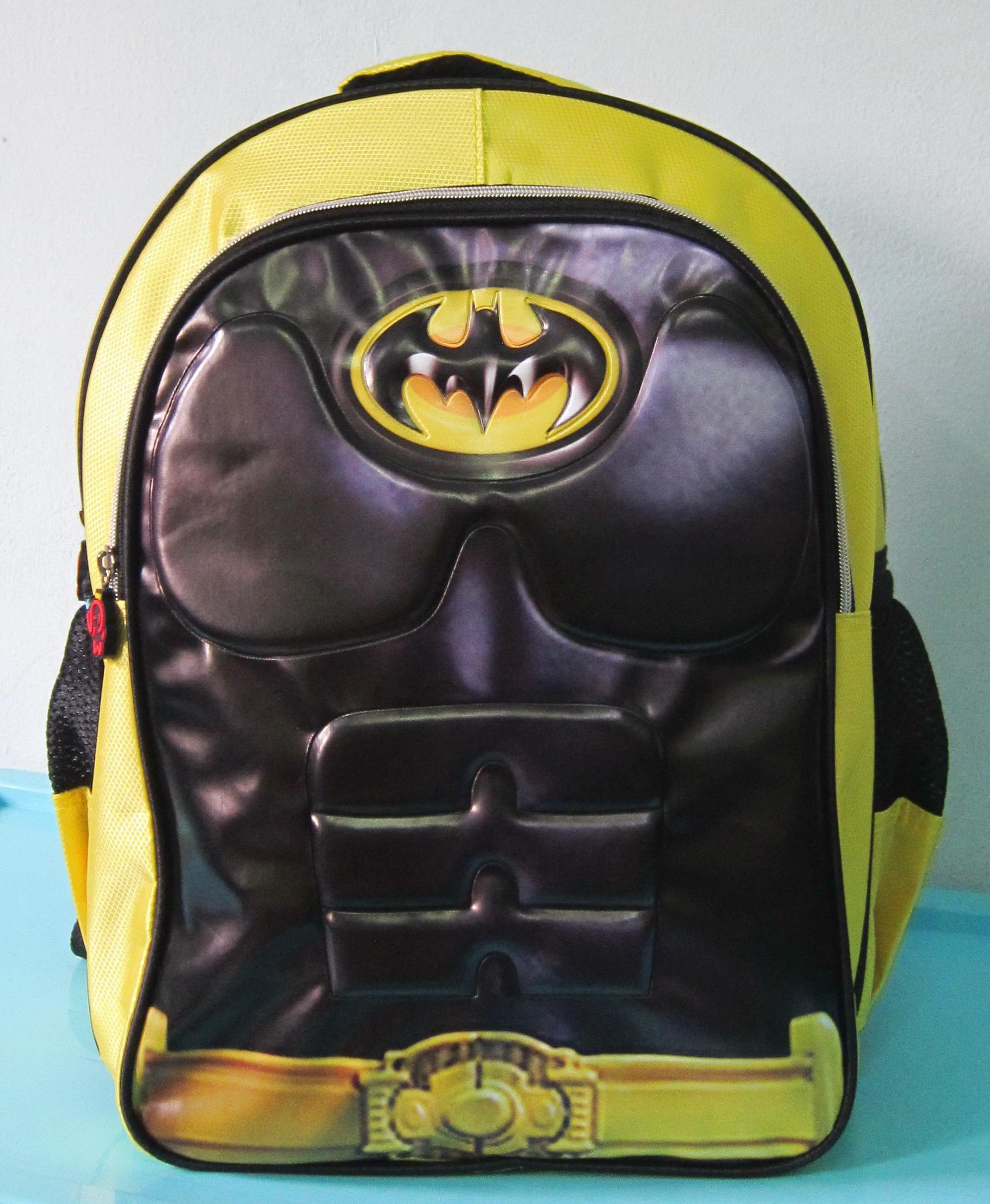 Tas Sekolah Anak Tas Ransel SD 3D Emboss BATMAN