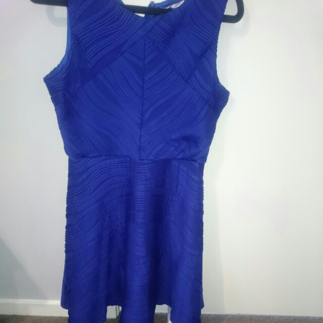 TEMPT size 10 blue dress