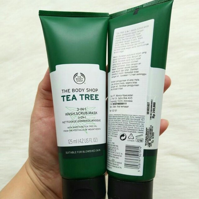 The Body Shop - Tea Tree 3in1 Wash, Scrub, Mask
