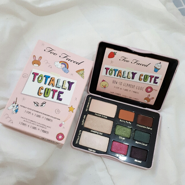 too faced totally cute eyeshadow pallete