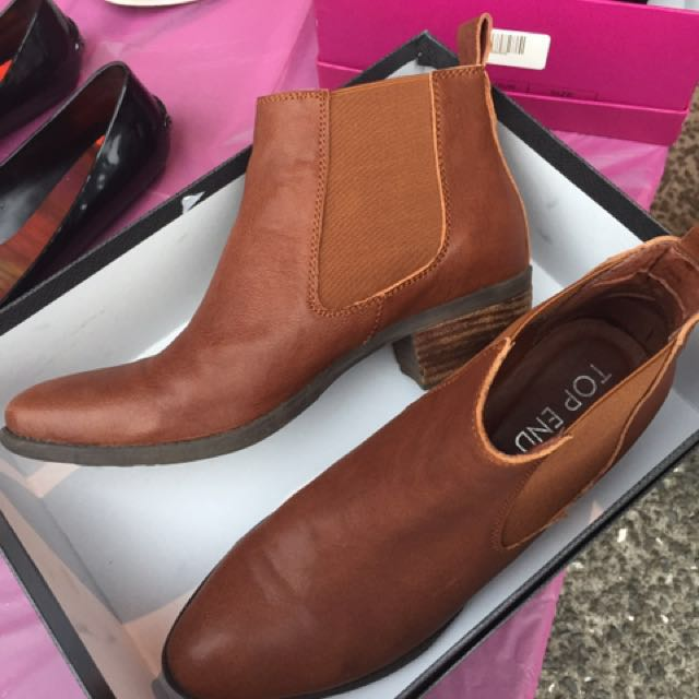 Top End Tan Ankle Boots