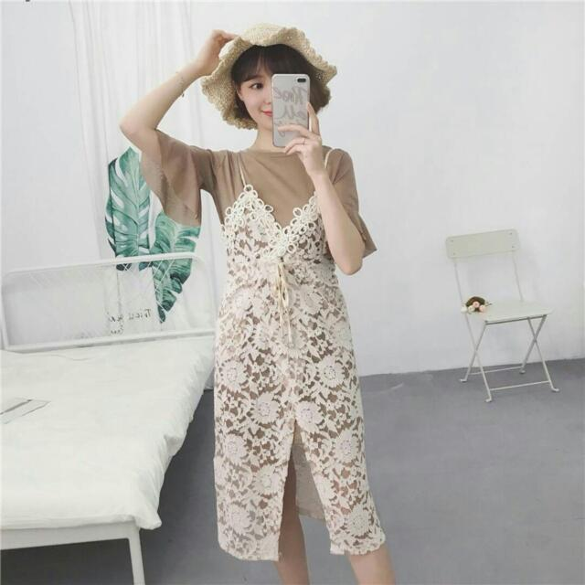 Top With Lace Dress Preorder(14days)