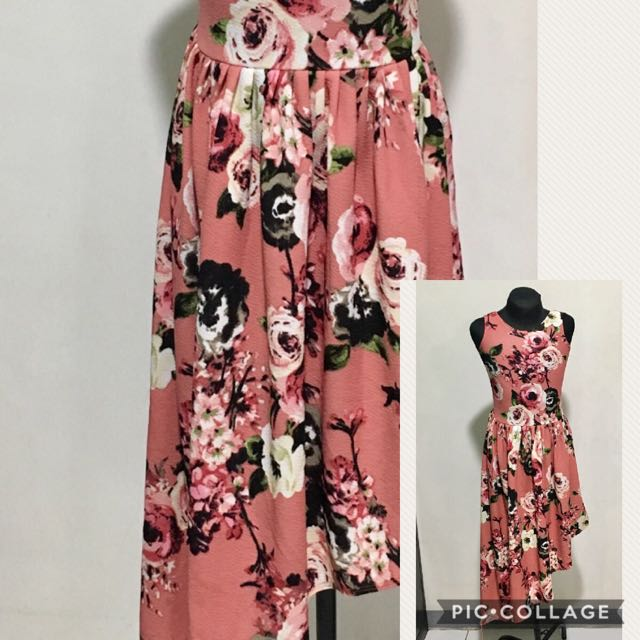 trendy floral dress for 8-12 y old