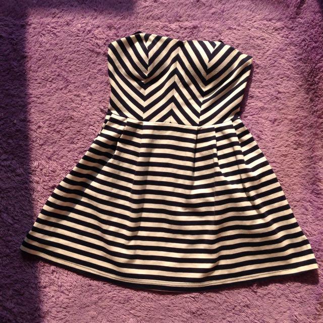 Tube stripe dress forever21 f21