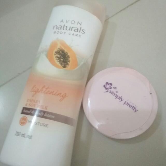 Whitening Lotion And Simply Pretty Face Powder