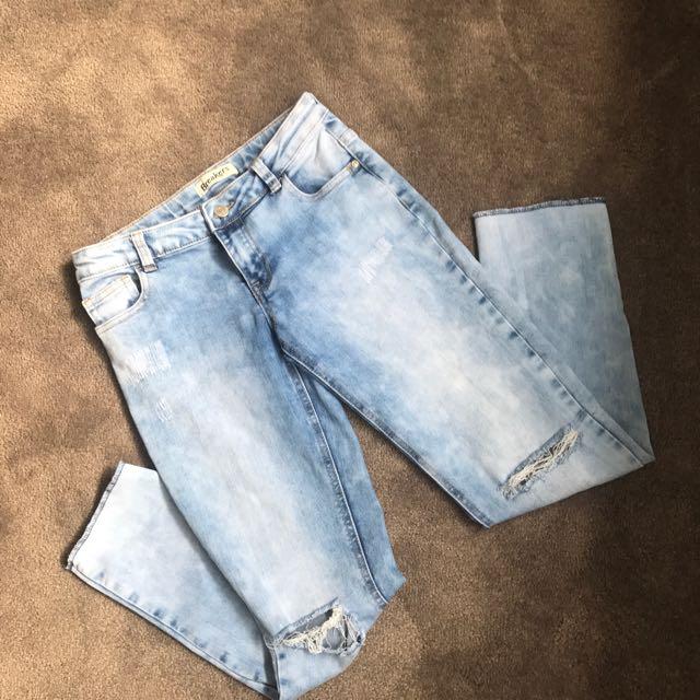 Women's/Ladies knee rip denim jeans