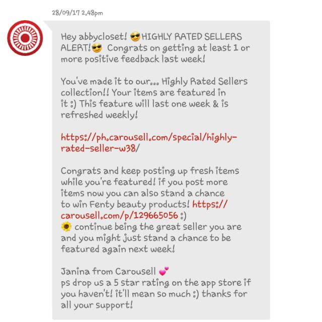 Yey!!😍 For 4th Time Feedback from Carousell!!💯✔ Thank You So Much😙❤