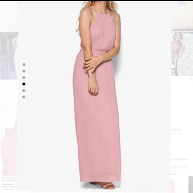 Zalora Dusty Rose Maxi Dress