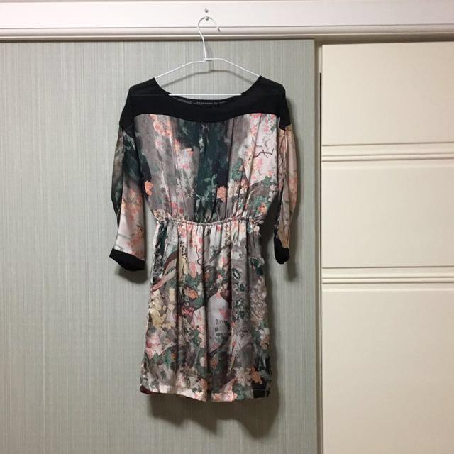 Zara露背洋裝s