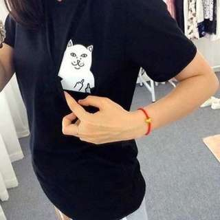 Cat middle finger shirt (BRAND NEW)