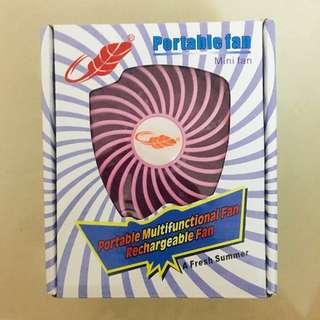 <全新>共田牌粉紅色手提芭蕉風扇一把 Portable Fan