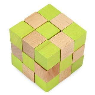 SQUARE PUZZLE EDUCATIONAL WOODEN INTERLOCK TOY CHRISTMAS PRESENT (COLORMIX) -