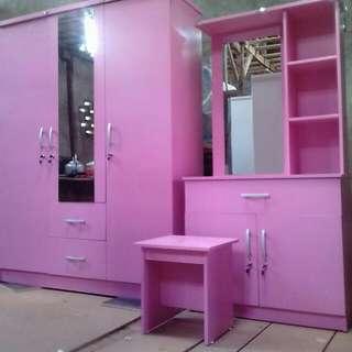 Paket lemari 3 pintu + Meja rias