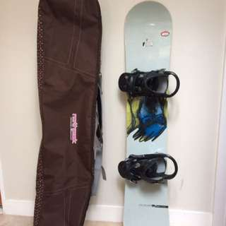 Snowboard + cover bag