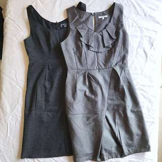 Grey Work Dress x2