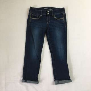 Cropped jeans, size 8