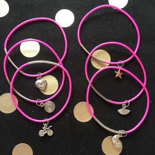 Bundle of Charm Bracelets (6)