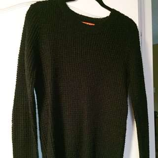 joe fresh waffle knit sweater (black)