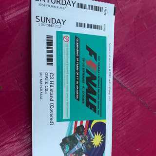 F1 Ticket C2 Hillstand (Covered)
