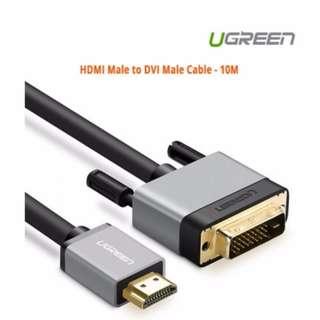 Ugreen HDMI Male to DVI Male Cable - 10M ACBUGN20891
