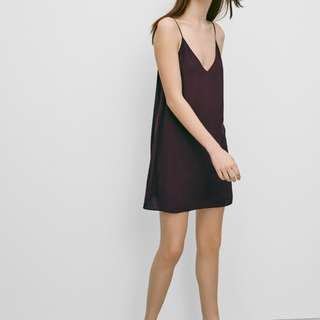 Aritzia Wilfred Free Vivienne Dress Maroon S