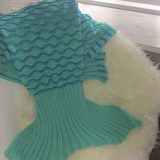 Mermaid Blanket Green And Blue