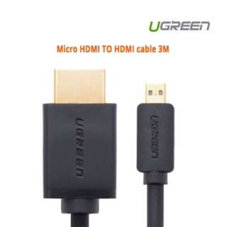 Ugreen Micro HDMI TO HDMI cable 3M 30104