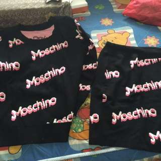 Moschino set dress murah