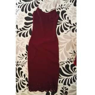 NEW LOOK Burgundy Evening Dress