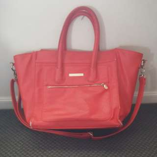 Large red hand bag