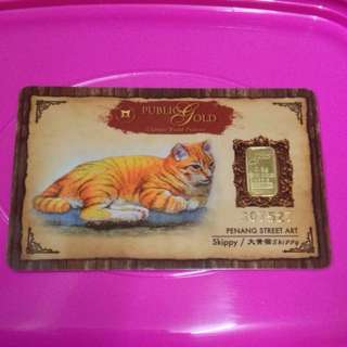 0.5g Gold Bar Public Gold Skippy The Cat