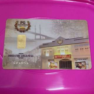 0.5g Gold Bar PG Museum
