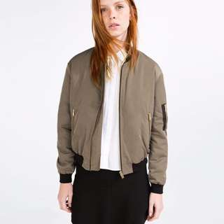 green zara bomber jacket - pictures of item available, just ask!