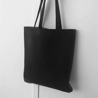 Black Designer Tote Bag