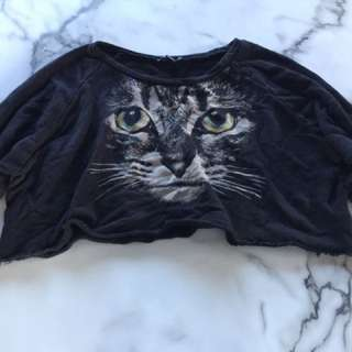 Cat Crop Jumper