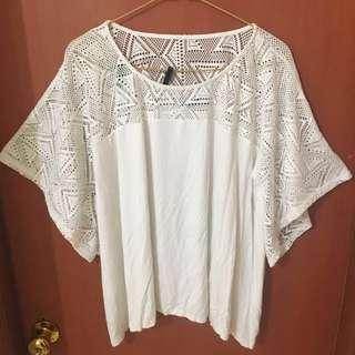 Zalora white blouse