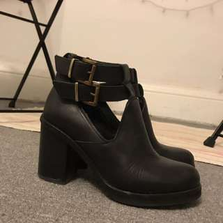 Topshop heeled booties