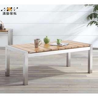 〈滿藝設計傢俬〉941 美式茶几簡約北歐實木鐵藝茶桌 辦公室客廳沙發長方形小桌子