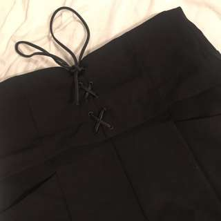 Zara Trafaluc High Waisted Corset Shorts