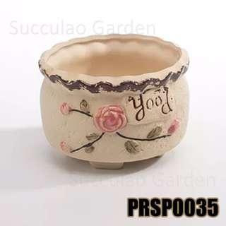 PRSP0035 Round shape planter for succulents, etc.