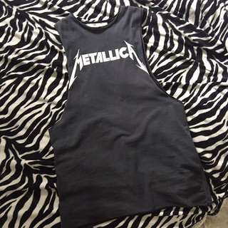Missguided Metallica Muscle singlet