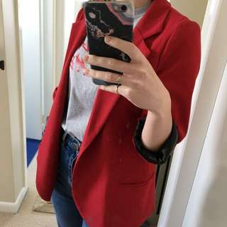 Pins And Needles Red Blazer