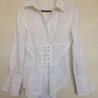 Lace up corset shirt
