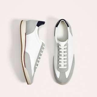 Zara Man White Sneakers Combination