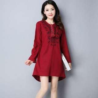 STYLISH DRESS RED (SIZE M) M