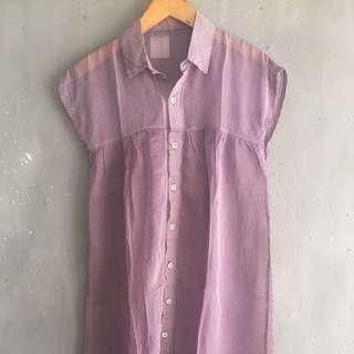 Long Shirt Purple Stripe
