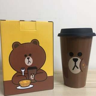 McDonald's x Line Friends Brown Bear 瓷杯