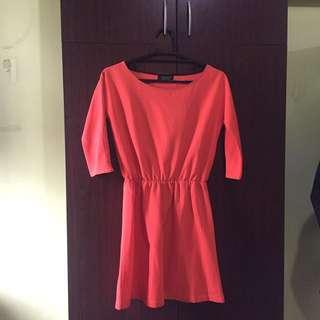 Topshop Orange Dres