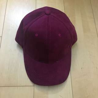Maroon Velvet Cap